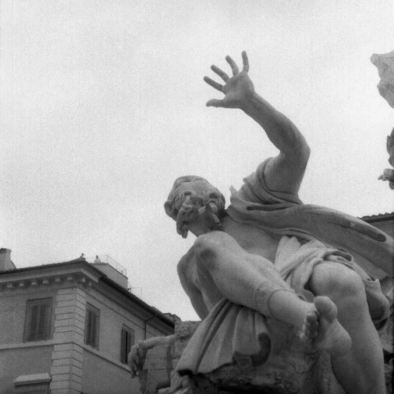 Francesco Borromini, Rio de la Plata, Fontaine des quatre fleuves, piazza Navona, Rome (Italie).