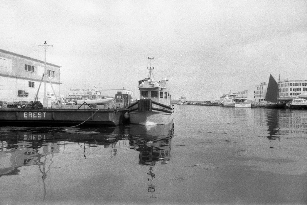 Port de commerce de Brest (Finistère).