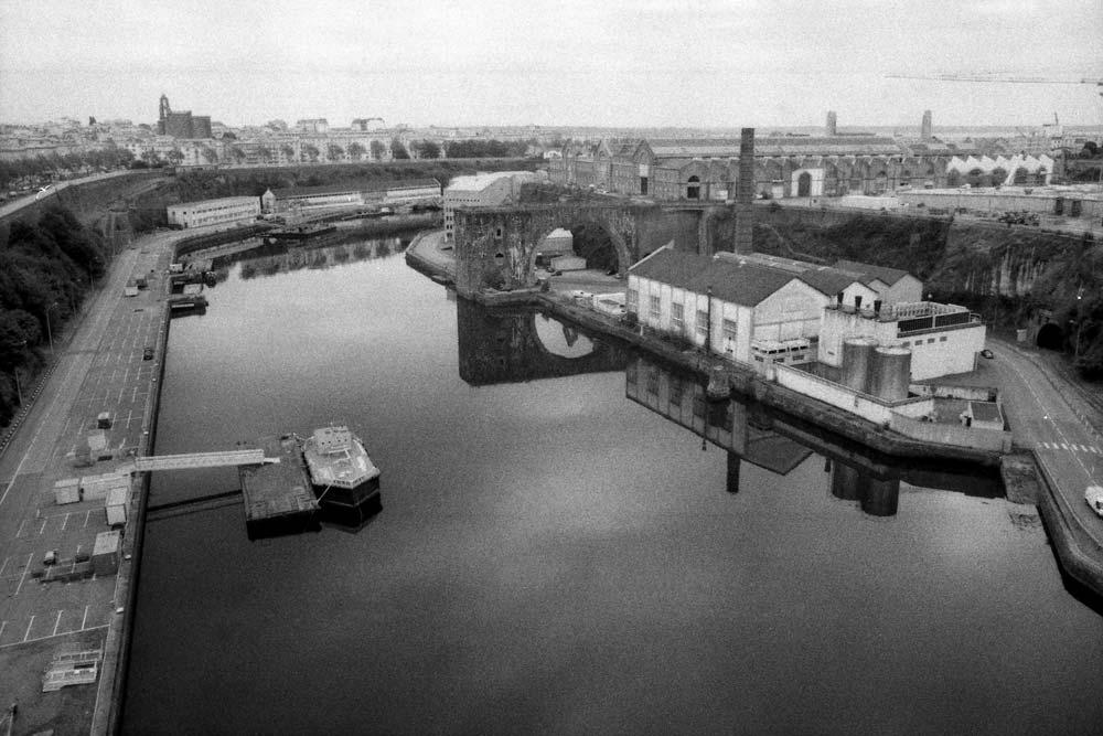 La Penfeld depuis le pont de l'Harteloire, Brest (Finistère).