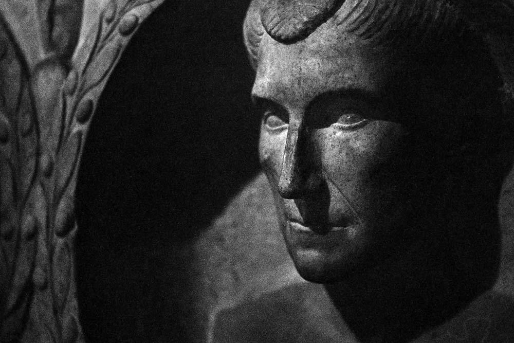Rilievo curvilineo funerario, début de l'Empire, Centrale Montemartini, Rome (Italie).