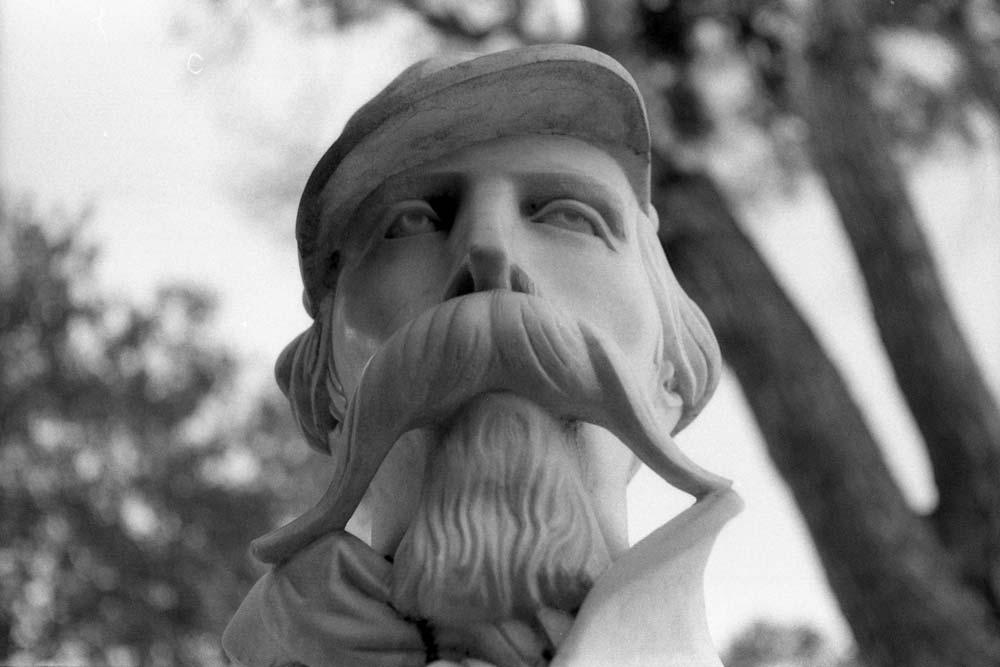 István Türr (il Garibaldino ungherese), Passeggiata del Gianicolo, Rome (Italie).