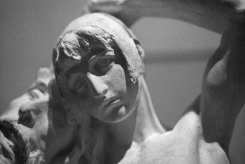 David (1900-1915) par Ettore Ximenes, Galleria d'Arte Moderna, Rome (Italie).