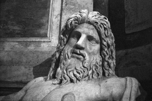 Marforio, Musei Capitolini, Rome (Italie).