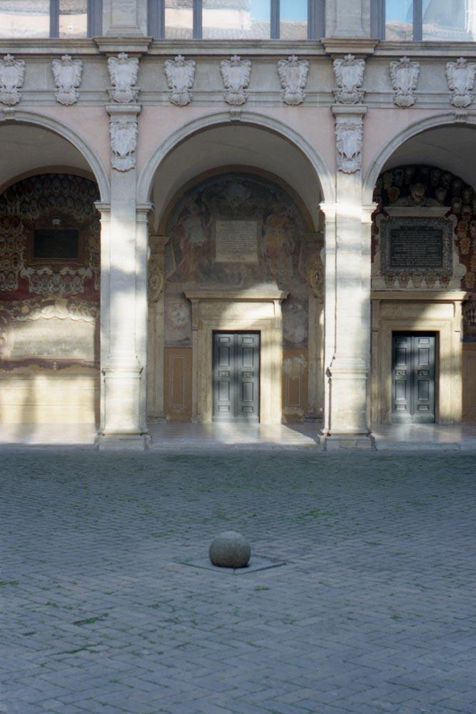 Archiginnasio, piazza Galvani, Bologne (Italie).