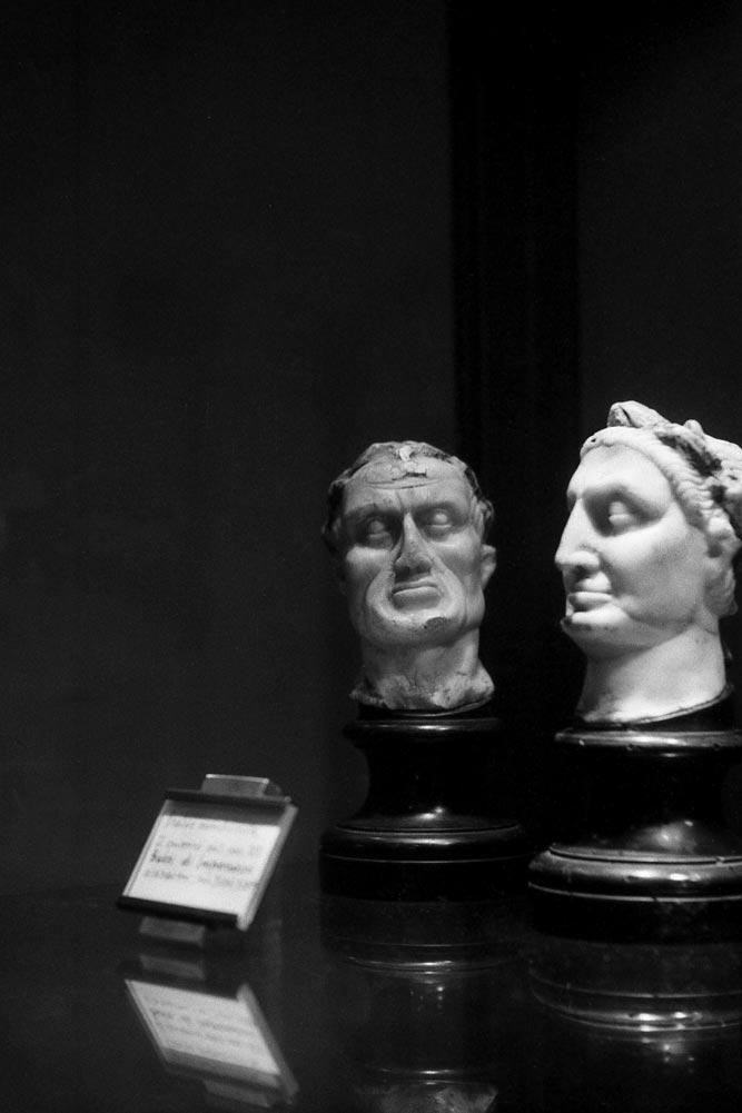 Busti di imperatori (Italie méridionale, XIIIe siècle), Museo medievale, Bologne (Italie).