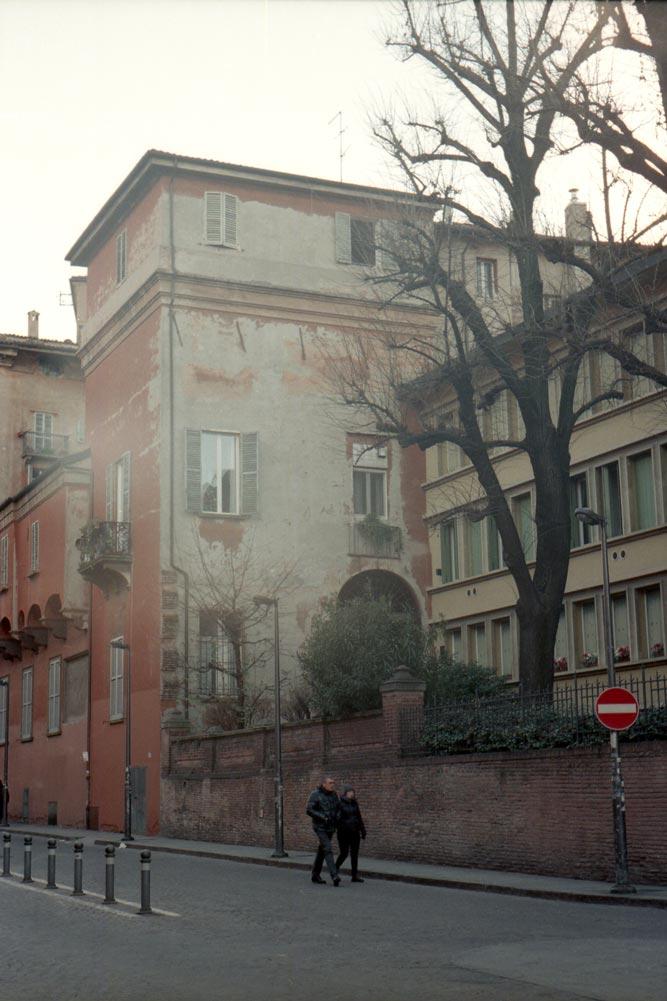 Piazza Aldrovandi, Bologne (Italie).