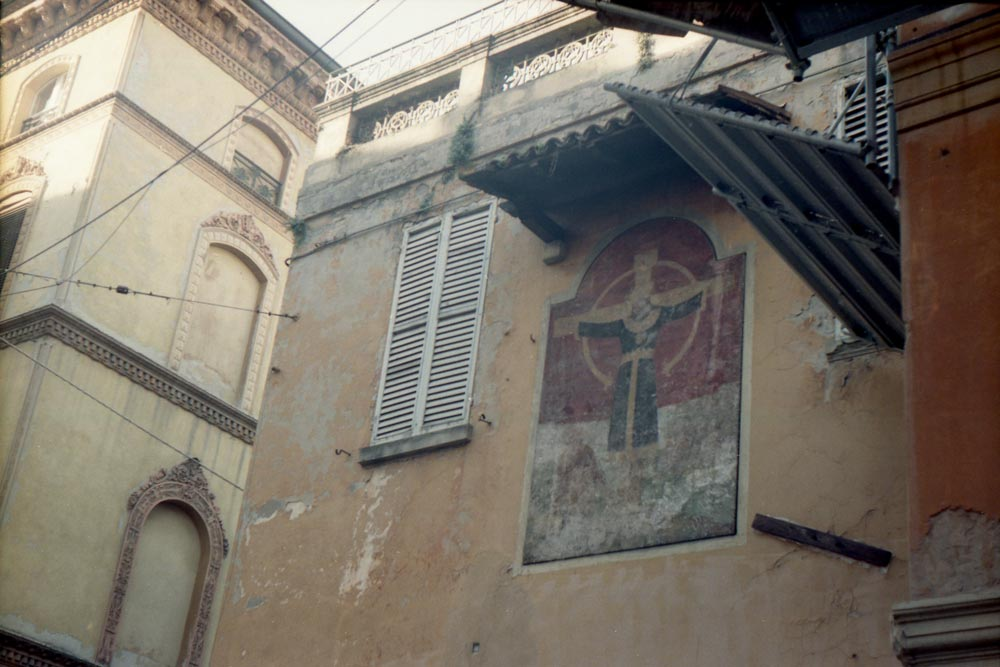 Via Val d'Aposa, Bologne (Italie).