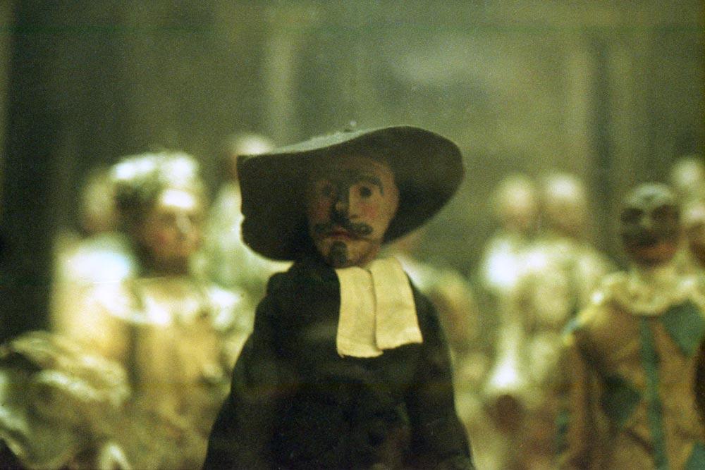 Teatrino con marionette (Venise, XVIIIe siècle), musée Davia Bargellini, Bologne (Italie).