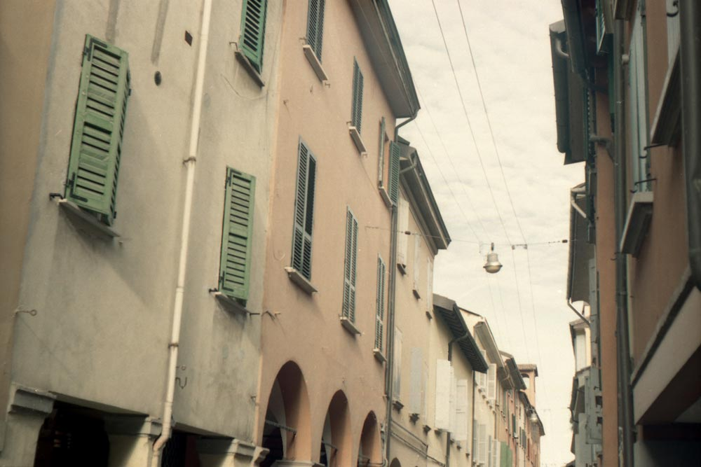 Via Fondazza, Bologne (Italie).